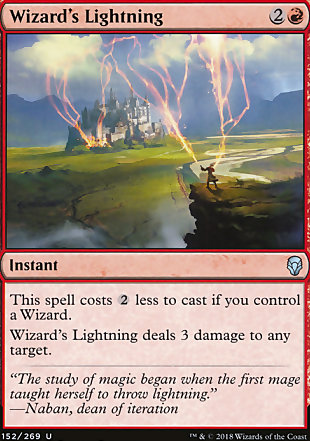 image of card Wizard's Lightning
