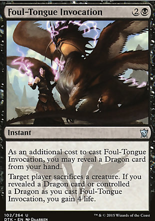 image of card Foul-Tongue Invocation