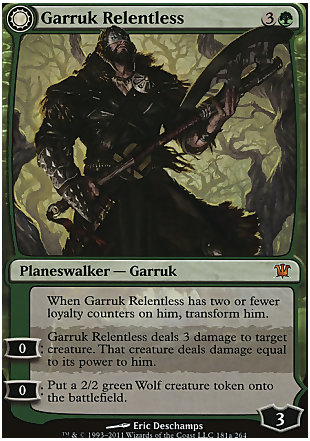 image of card Garruk Relentless